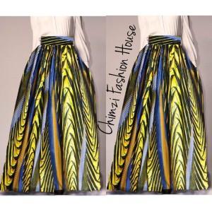 long maxi Ankara skirt