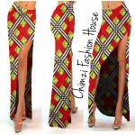 long sexy Ankara split skirt