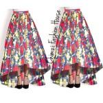 long High low maxi Ankara skirt