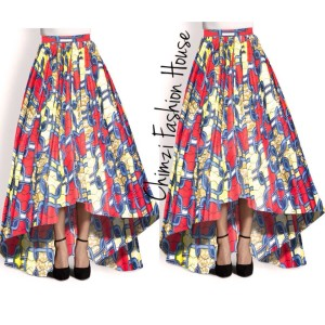 long High low maxi Ankara skirt