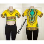 Dashiki crop top african Shrit