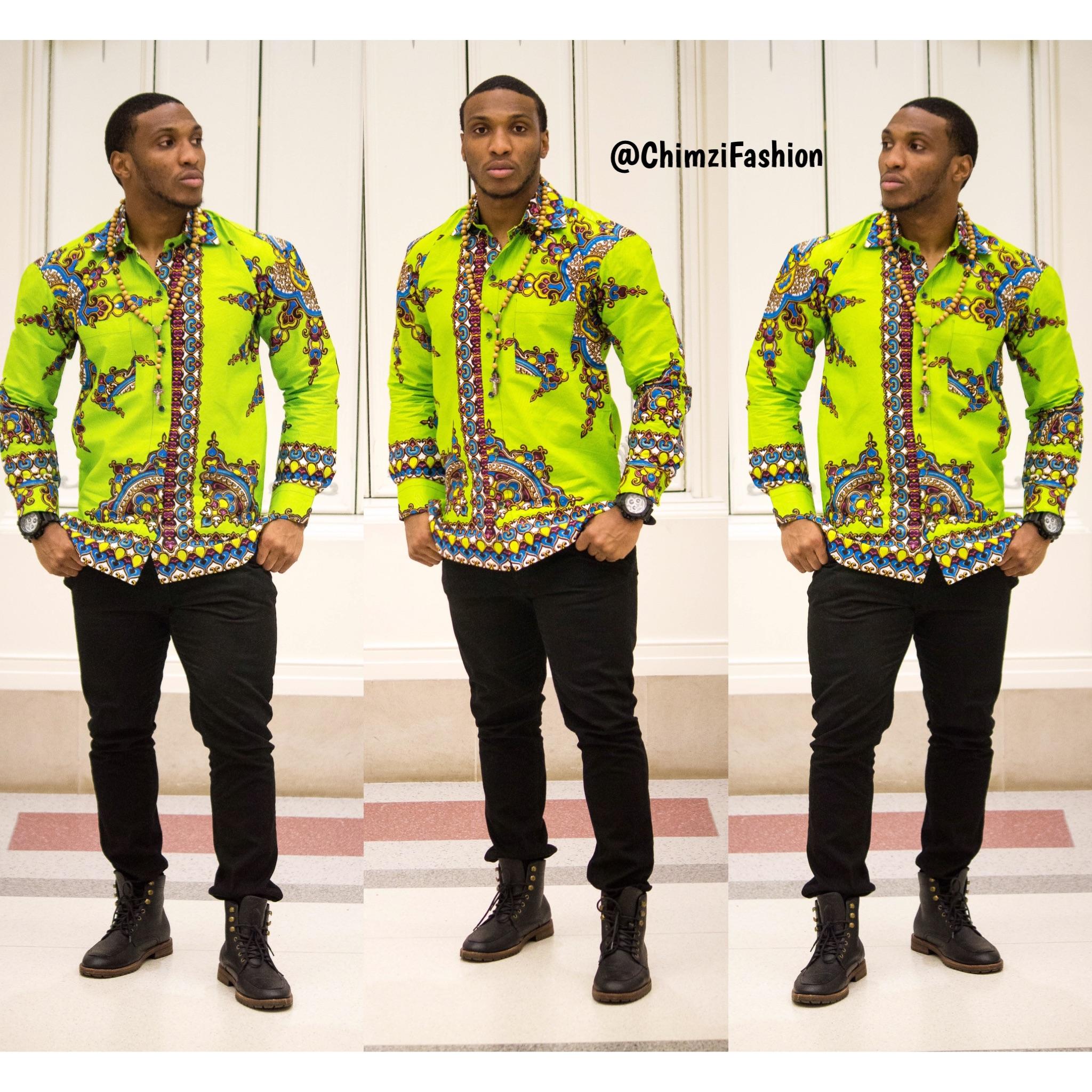 African Men Shirt Ms150023 Chimzi Fashion House
