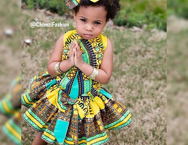 African Ankara kids dresses