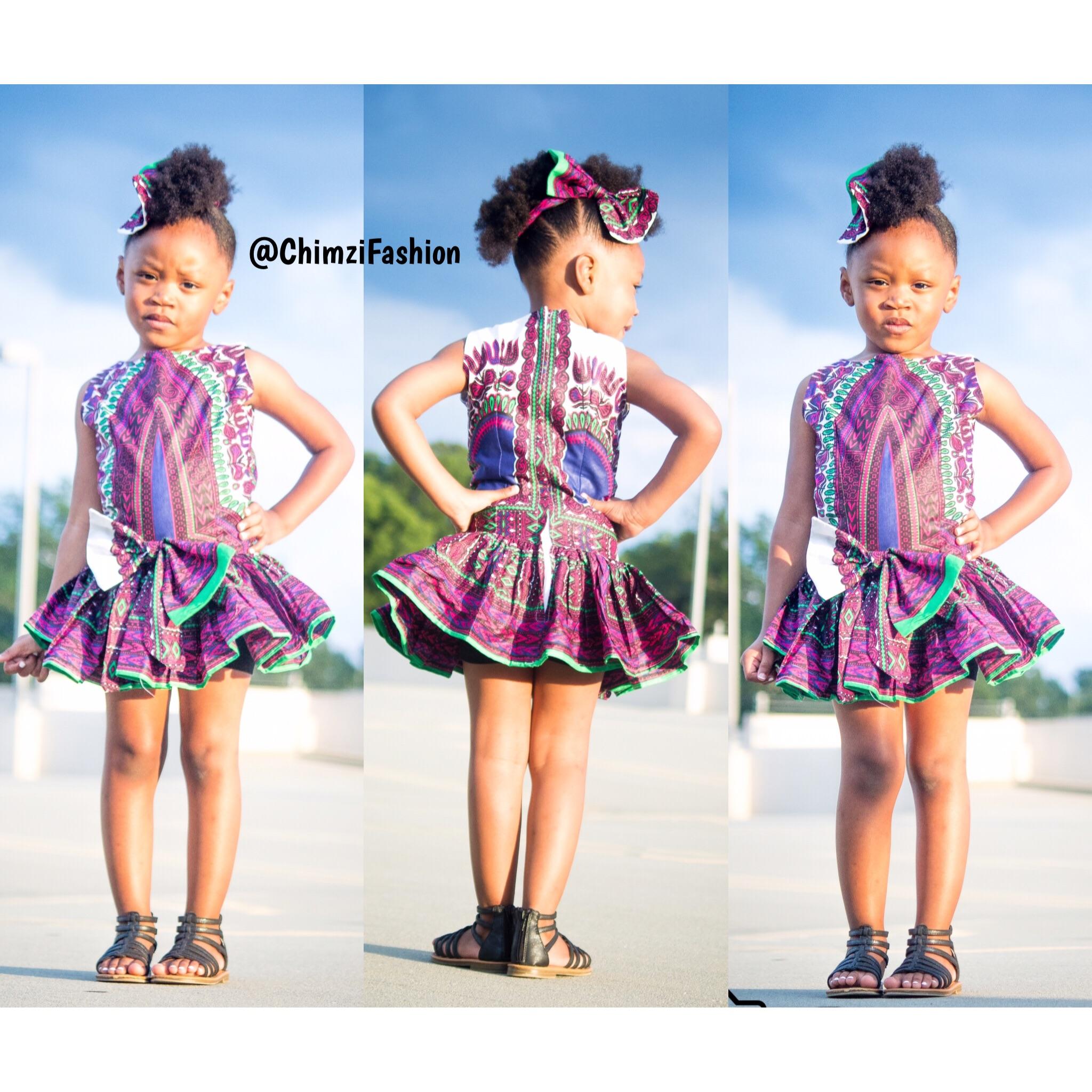 Ankara Kids Dresses Princess Dress Pd0008 Chimzi Fashion House